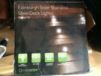 Edinburgh Solar LED Deck Lights – Set of 8 - BRAND NEW