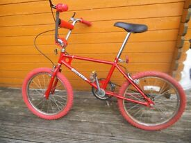 old school 80's bmx bike £70.00 cash on collection - vintage retro bike