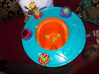 Bumboo style but better, 3 in 1 baby chair: eat, seat, play. Tray rotates 360'