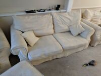 FREE! - Comfy and relaxing three seat sofa, arm chair, and pouffe