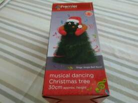 Musical christmas tree toy.