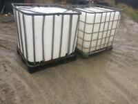 Large water tank 1000 ltr / pallet / crate