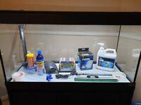 Fluval Roma 200L Fish Tank, Cabinet, Tetra APS300 Pump & JBL Cristal Profi e1502 Filter