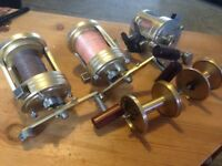 3 collectable shimano reels
