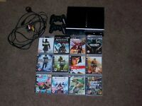 PS3 two controllers + games
