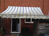 Garden awning blue and white