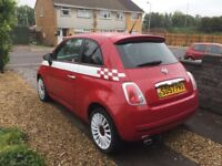 Fiat 500 1.4 in Red with white. Stunning car MOT till June 2018