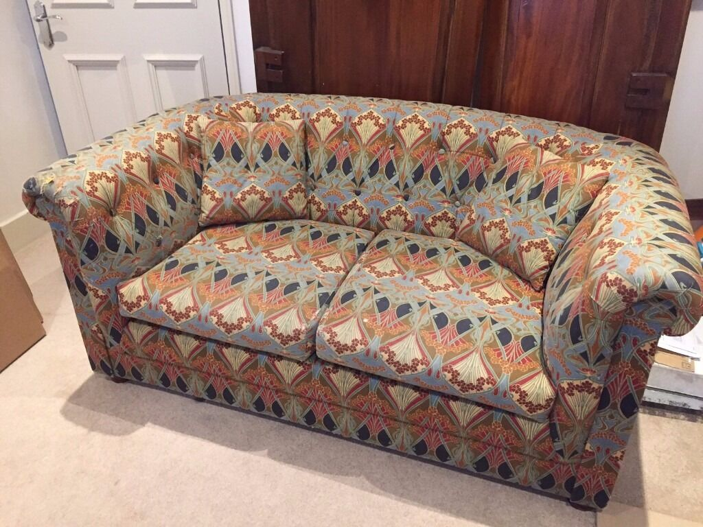 Vintage Liberty Print Chesterfield 2 Seater Sofa
