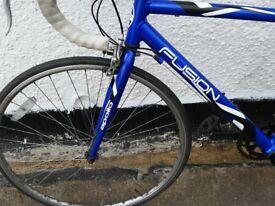 blue lightweight alloy racing bike