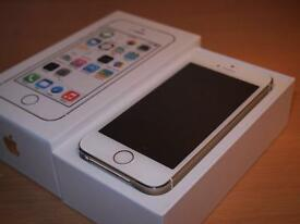 iPhone 5S- 16 GB in Box EXCELLENT CONDITION FROM SHOP Available in Space Grey, Silver and Gold.