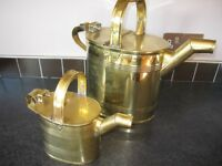 Victorian Brass watering cans