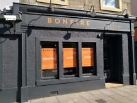 Dalkeith Restaurant-Bonfire!looking for Chefs,Waiters,Bartenders, Duty Managers, Restaurant Manager