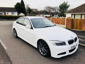 *2011* BMW 318D M-SPORT PLUS+ EDITION NEVADA WHITE SALOON MANAUL NEW MOT + £30 ROAD TAX