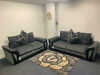 SOLD- Absolutely gorgeous grey & black Harvey's sofas 3&2 delivery 🚚 sofa suite couch furniture
