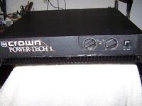 Power amp PA amplifier Crown Powertech 1 Pro audio 2 channel for DJ Musician Band