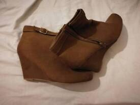 New look brown ankle boots