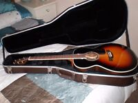 Takamine GN51-BSB electro acoustic guitar, excellent condition, with Takamine hard case