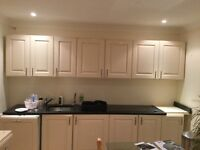 Kitchen with dishwasher, integrated x2 fridge freezers, oven, grill, and hob
