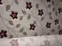 Brand New Flower carpet offcut