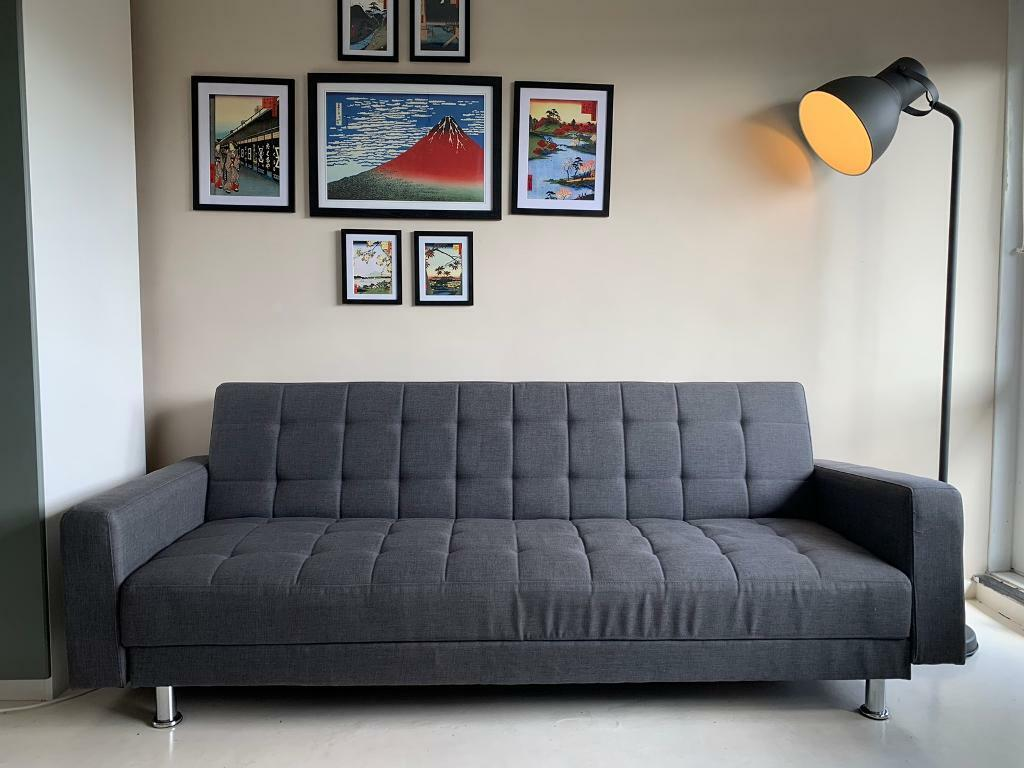 Groovy 3 Seater Grey Sofa Bed And Memory Foam Mattress Topper Nearly New Sw16 In Tooting London Gumtree Home Interior And Landscaping Elinuenasavecom