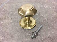 Inbrass unlacquered brass front door knob