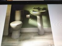 Cooke & Lewis Alonso Bathroom Toilet and Sink Brand New RRP £199