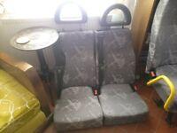 3 pairs of van seats