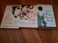 Set of 3 David Pelzer books.
