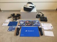 PlayStation PSVR Headset, games, move controllers and extras PS VR (PERFECT CONDITION)