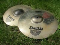 Sabian AAX X-Plosion Hi Hats Great Condition