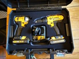 DeWalt 18v Drill Driver & Impact Driver Set with case, charger and two batteries (unopened)