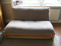 Double Futon Mattress And Wooden Frame Made By The Company Sold With An Under