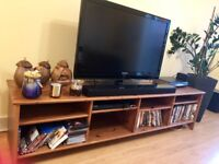 IKEA TV stand with matching coffee table + a small corner desk with chair
