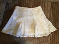 Short White Lacy Skirt Size 6