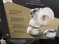 Tommee tippee electric pump and bottles