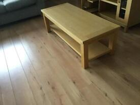 Solid Oak coffee table SOLD