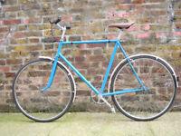 Beautiful lightweight Reynolds 531 Single Speed Freewheel bike, Serviced,