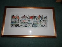 "Framed Limited edition Sue Howells Print, ""Open All Hours."""