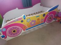 Toddler bed, girls car design