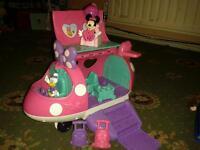 Minnie mouse bow-tique aeroplane