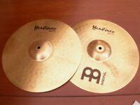 """Meinl headliner 14"""" hi hat cymbals."""