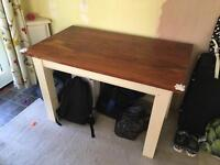 Solid wood table. Shabby chic project!