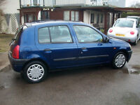 RENAULT CLIO 1.1 2001 5 DOOR-MOT AND DRIVES VERY WELL -WE CAN DELIVER TO YOU