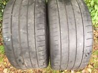 2 x 265/30x19 Michelin Pilot Supersport Tyres