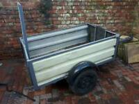 Dual purpose box/ motorbike trailer