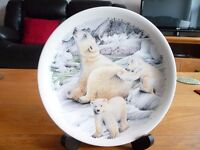 The Polar Bear - Ursus Maritmus plate made by Poole Pottery