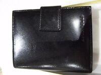Black Genuine Leather Wallet/Purse