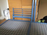 Single bed metal frame with Ikea Sultan Huglo mattress
