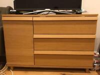 IKEA OPPLAND Sideboard/chest of drawers in Oak Veneer, perfect condition