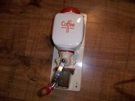 Vintage Dutch Wall Mounted Coffee Mill Grinder